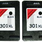 2 X 301XL Schwarz Wiederaufbereitetes Druckerpatronen für HP Envy 4505