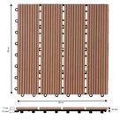 WPC Fliesen 66er-Set Klassik Terrakotta - 30x30cm