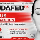 Sudafed PE Non Drowsy Maximum Strength Congestion Tablets 10mg 36 Count
