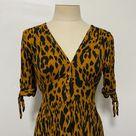 BOHO AUSTRALIA Dress Size M Ambrose Midi Leopard