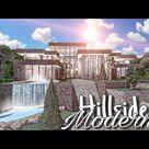 ROBLOX BLOXBURG: Hillside Modern Mansion || House Build
