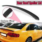 Generico Alerón de ventana techo trasero fibra carbono real para Audi