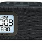 iHome iBT210B Bluetooth Dual Alarm FM Clock Radio with Speakerphone and USB Charging - Black - Black