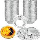 PigMig - Aluminium Bakjes Wegwerp rond 7cm (250 stuks) - Taartvormen, Cakevormen - Aluminium Schaal voor bakkerijen, cafés, restaurants - duurzame mi