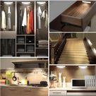 Motion sensor LED light under cabinet, magnetic strip wall light - WHITE / BUY 1