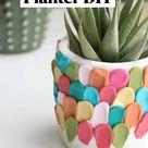 Best Easy Clay Petal Planter DIY