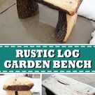 Simple Garden Bench From a Log
