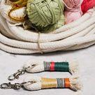 DIY Tutorial - Schlüsselanhänger aus Baumwollseil & buntem Garn selbermachen