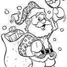 Kids-n-Fun | Kleurplaat Kerstmis de Kerstman Kerstmis - de Kerstman