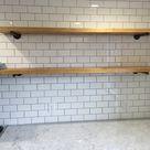 Rustic Long Floating Shelf Industrial Floating Shelf Wood   Etsy