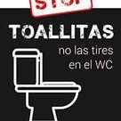 Cartel De Prohibido Tirar Toallitas Prohibidotoallitas