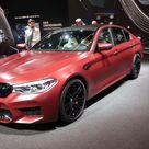 """2017 Frankfurt Auto Show BMW M5 """"First Edition"""" Frozen Dark Red Metallic"""