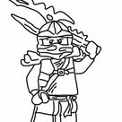 Coloriage Dessin Ninjago Kai dessin gratuit à imprimer