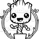 Baby Groot Digital Cut File EPSPDFPnGSVG for Silhouette   Etsy