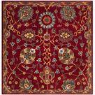 SAFAVIEH Handmade Heritage Anya Traditional Oriental Wool Rug 6' x 6' Square   Red