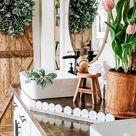 Farmhouse Spring Bathroom!