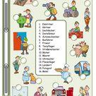 Berufe_1_ Bilder&Wörter + Gitterrätsel