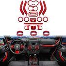 Sunluway 21 PCS Jeep Interior Accessories - Red