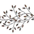 Distressed Blowing Leaves Wall Decor Bronze 32