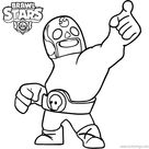 El Primo Brawl Stars Coloring Pages Black and White - XColorings.com