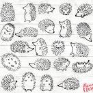 The cutest little hedgehog planner doodles, bullet journal woodland theme ideas