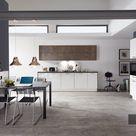 nobilia Küche Flash 450 Lacklaminat Weiss Hochglanz 120+280 cm konfigurierbar mit E-Geräten - mit Elektrogeräten / nein