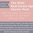 The HUGE Real Estate Agent Starter Pack, save 30% with this bundle of real estate business planners and templates!