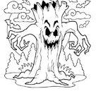 Ausmalbild  Schrecklicher Baum kostenlos ausdrucken
