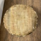 Updated Rustic Round Stump End Table