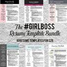 Resume Template Bundle - #girlboss