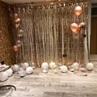3m Rose Gold Self Adhesive Foil Fringe Tinsel Shimmer Curtain Door Wedding Happy Birthday Party DECO