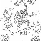 Sponge bob catching a jellyfish coloring pages - Hellokids.com