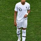 France's forward Kylian Mbappe reacts during the Russia 2018 World...