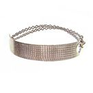 Signature Bridge Wristwrap™: Fibril™ Textured Double-wrap Half-cuff Bracelet - Sterling Silver / Bright