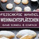 Frischkäse Mandel Plätzchen ganz einfach - emmikochteinfach