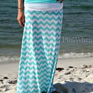 Chevron Maxi Skirts