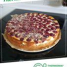 Variation Gebackene Quark-Schmand-Torte mit Süßkirschen