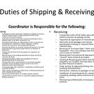 Shipping & Receiving