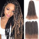 18Inch Water Wave Passion Twist Hair Synthetic Crochet Braid   49 / 18inches
