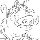 Kids-n-Fun | Kleurplaat Lion King of de Leeuwenkoning Timon en Pumba, echte vrienden