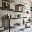 Wohnzimmer Regal Metall Holz
