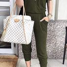 Womens Custom Design Off Shoulder Jumpsuit - M / Army Green