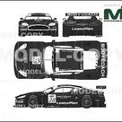 Aston Martin DBR9 Sprint Race No.28 2005   2D drawing blueprints