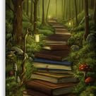 The Reader's Path Canvas Print by MorJer