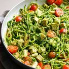 Zucchini Noodles with Chicken, Cilantro and Lime - iFOODreal.com