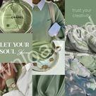 Sage Aesthetic   Phone Collage Background   Wallpaper   Shop Printables Now on Etsy!