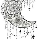 'Floral Moon and Dangling Stars: moon-struck' by Katie Hwang