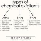 Exfoliation 101 Chemical Exfoliants