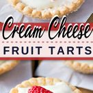 Cream Cheese Tarts Topped with Fruit Recipe - My Organized Chaos