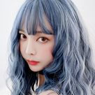 Blue Grey Wave Short Wig SD02452
